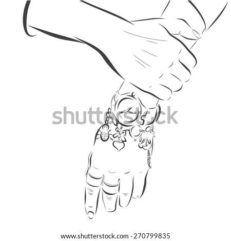 hand made woman hands with