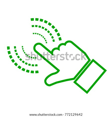 Hand Making Selection Icon – for stock