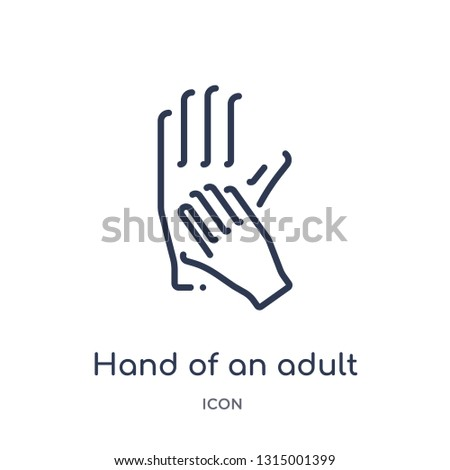 hand of an adult icon from people outline collection. Thin line hand of an adult icon isolated on white background.