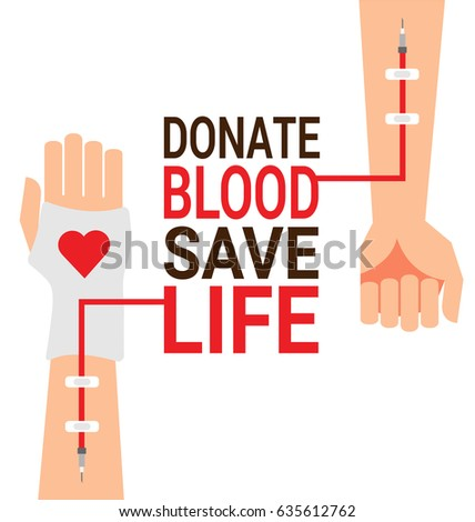 Shutterstock puzzlepix hand of blood donor with patient hand for world blood donor day poster thecheapjerseys Gallery
