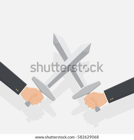 hand of businessman fighting