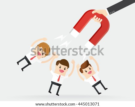 hand of businessman using