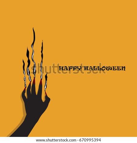 hand of zombie halloween