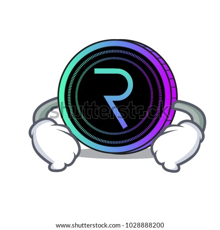 Hand on waist request network coin character cartoon