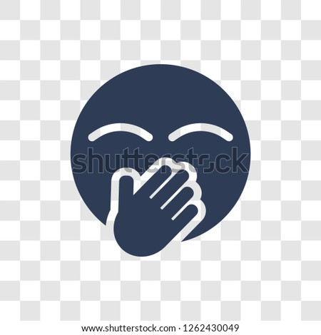 Hand Over Mouth emoji icon. Trendy Hand Over Mouth emoji logo concept on transparent background from Emoji collection