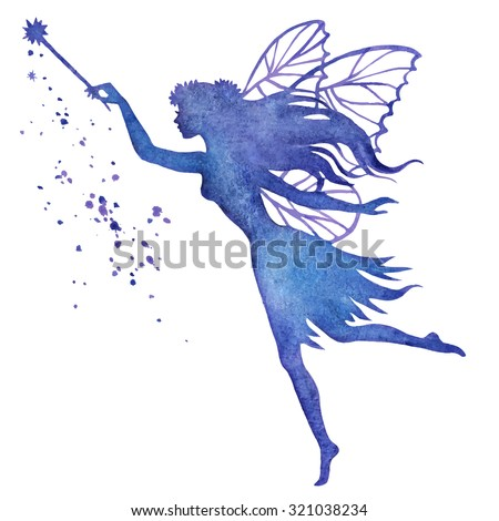 hand paint fairy with magic