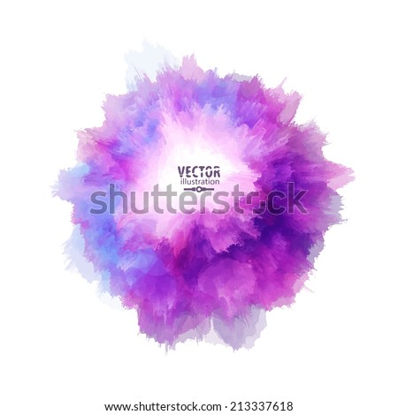 Hand painted blot. Abstract vector background