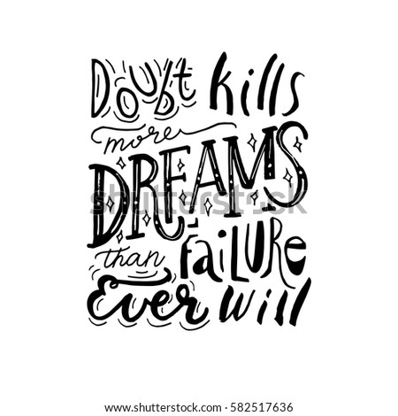 Hand painted inspiration quote