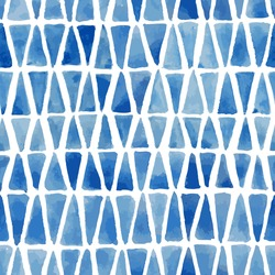 Hand painted mosaic background. Seamless vector pattern