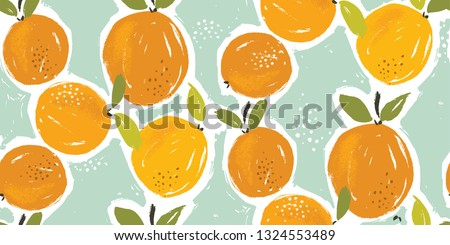 hand painted oranges fruit