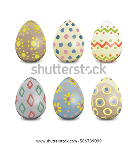 hand painted pastel easter eggs