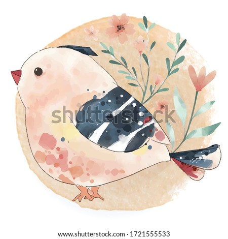 hand painted watercolor cute