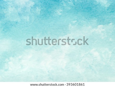 stock vector hand painted watercolor sky and clouds abstract watercolor background vector illustration 393601861 - Каталог — Фотообои «Текстуры»