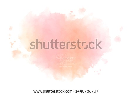 hand painted wet pink watercolor splash.  eps 8