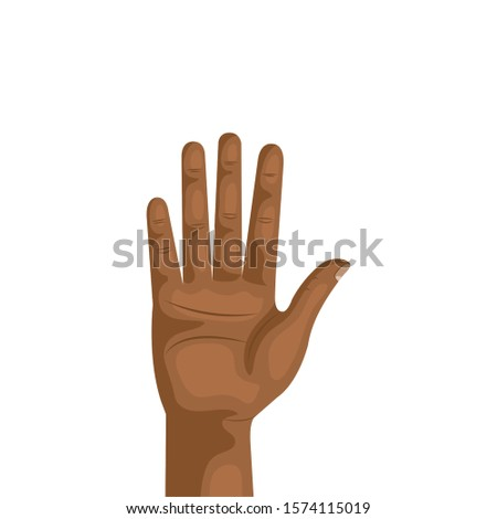 hand person human isolated icon vector illustration design