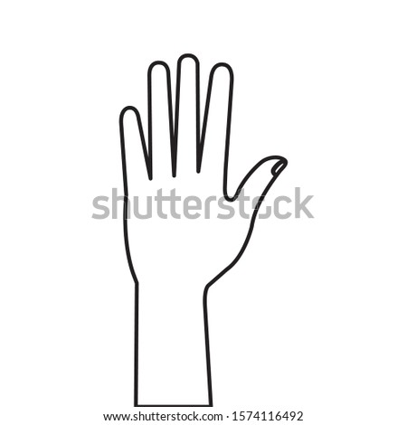 hand person human line style icon vector illustration design