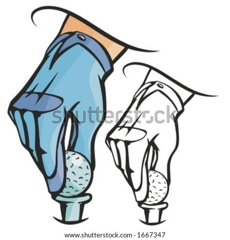 golf ball vector. a golf ball. Vector