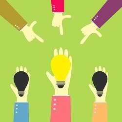 hand point a good bulb idea