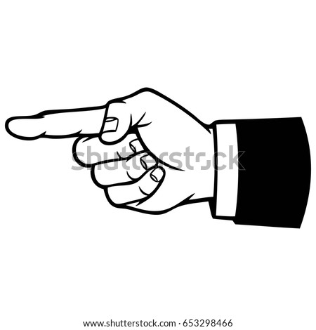 Hand Pointing Icon Illustration
