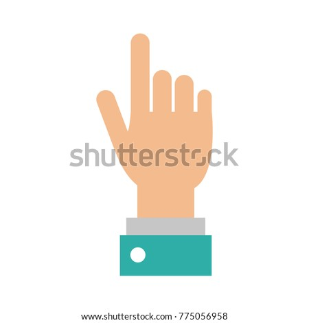Hand pointing with finger #775056958