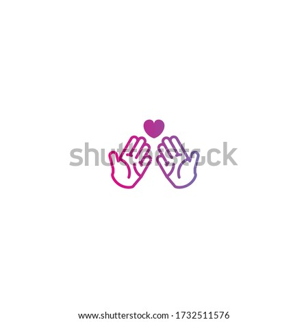 Hand praying icon isolated on white background. Foundation, pray, prayer, praying hands, religion, spirituality icon. Pray icon, hand prayer, religion vector symbol flat, believe, spirituality.