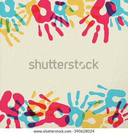 hand prints color art