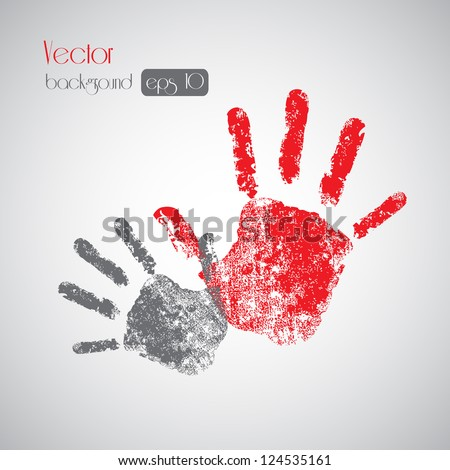 Hand prints on background - Vector illustration Eps10, Graphic Design