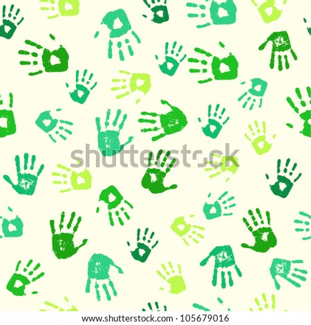 hand prints seamless pattern background