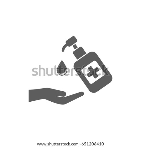 Hand sanitizer icon in trendy flat style isolated on white background. Symbol for your web site design, logo, app, UI. Vector illustration, EPS