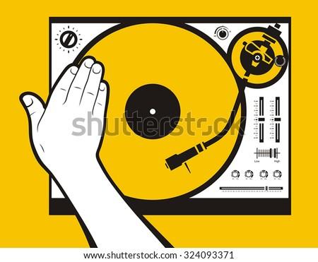 hand scratching vinyl