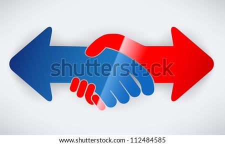 Hand shake arrows
