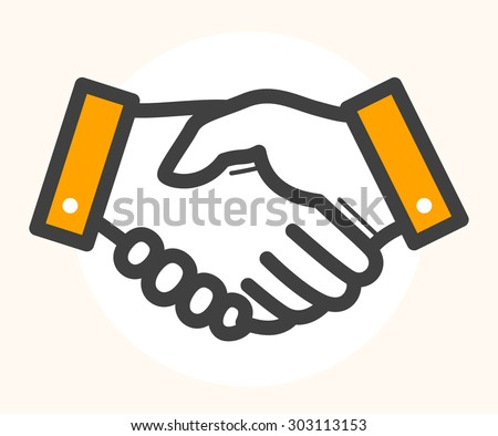 hand shake  deal icon. black...
