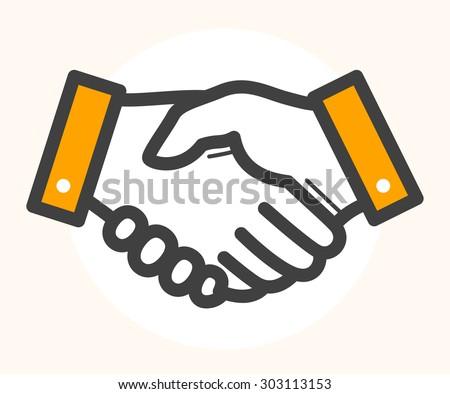 hand shake  deal icon. black...