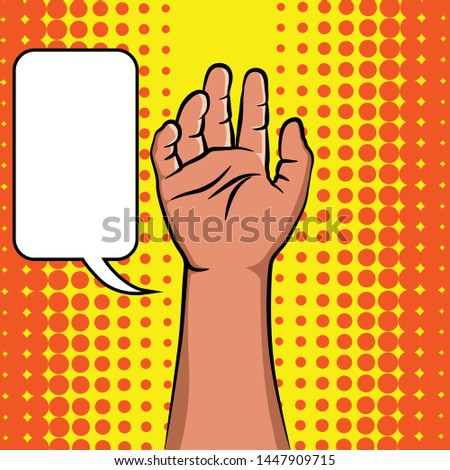 Hand showing five fingers icon. Flat illustration of hand showing five fingers vector.