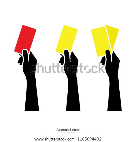 hand showing yellow card and