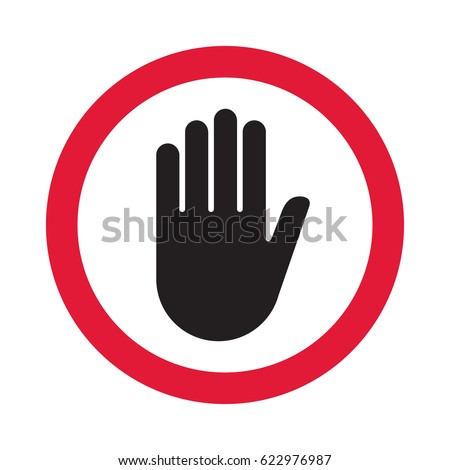 hand sign push vector