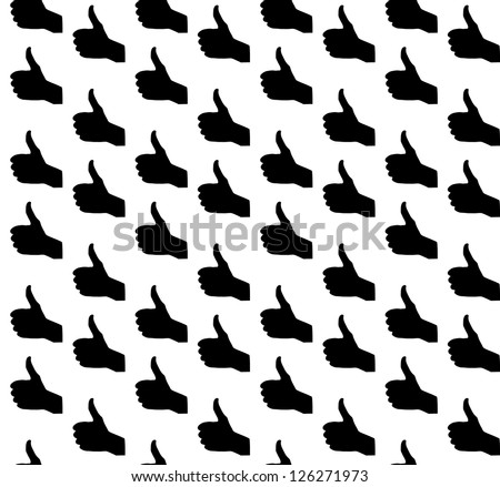 Hand signal on white. Seamless. vector illustration. EPS 10.