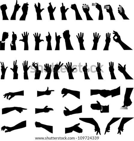 Hand silhouette