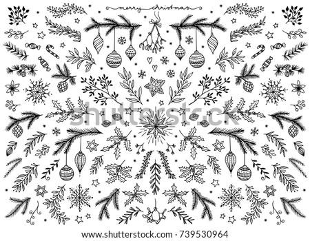 hand sketched floral design