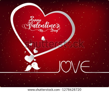 Hand sketched Happy Valentine's Day text as Valentine's Day logotype badge/icon. Valentine's Day poster/card/invitation/banner.  Romantic quote vector lettering typography. Valentine's Day calligraphy