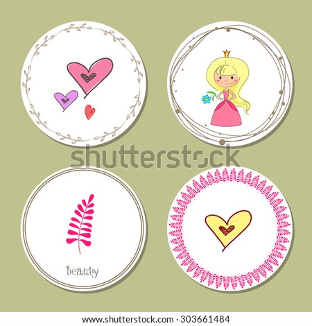 hand sketched templates with