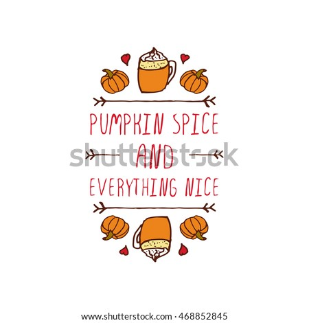 stock-vector-hand-sketched-typographic-element-with-pumpkins-hearts-hot-beverage-and-text-on-white-background
