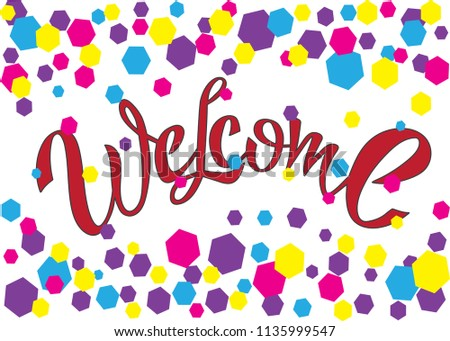 Welcome home titles download free vector art stock graphics images cute typographic home sweet home illustration welcome home cards m4hsunfo