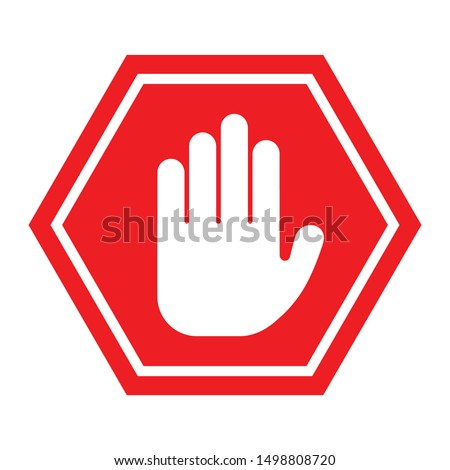 Hand Stop Icon Vector Sign & Symbol. - Vector Foto stock ©
