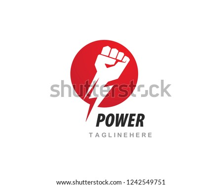 Hand strong vector icon