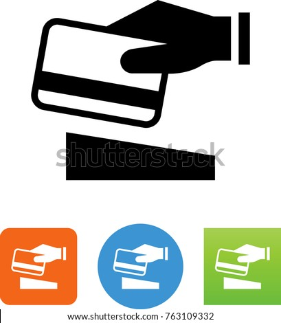 Hand Swiping A Credit Card Icon