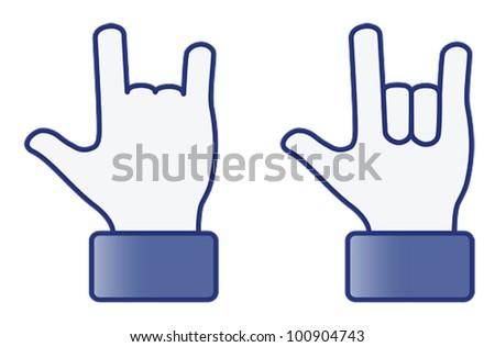 Hand symbol---Love 2D (vector)