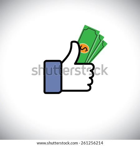 hand symbol of thumbs up with