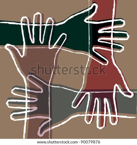 hand teamwork