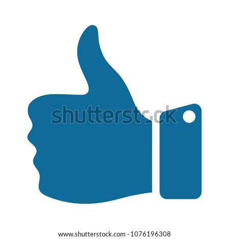 hand thumb up icon - vector like, social media symbol